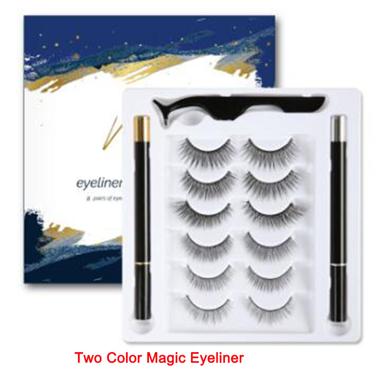 6pairs pack magic eyeliner pencil black color and ...