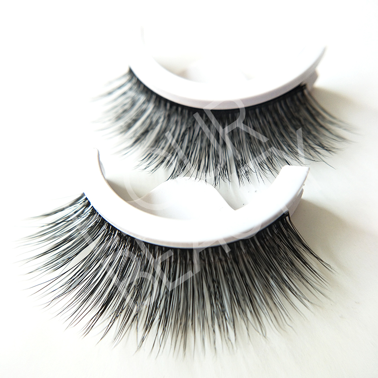 Hundreds styels of pre-glued false eyelashes be re...