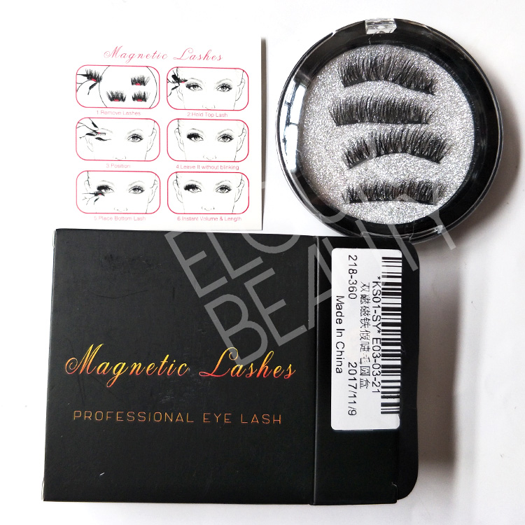 Double magnetic lashes with private label eyelash packaging ED01