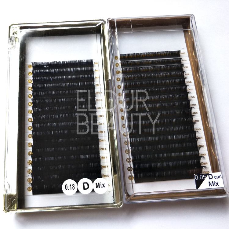 Professional manufactory Korean silk eyelash extensions China ED77
