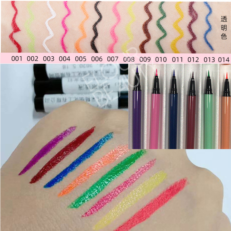 2021 hot private label colorful magic eyeliner adh...